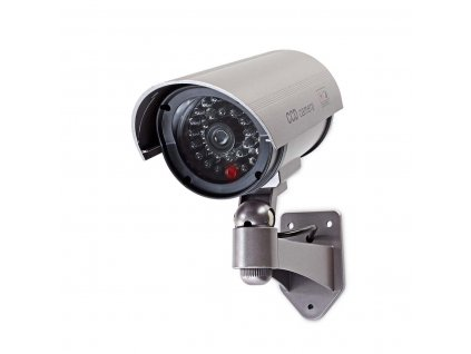 Atrapa Nedis bezpečnostnej bullet kamery IP44, šedá