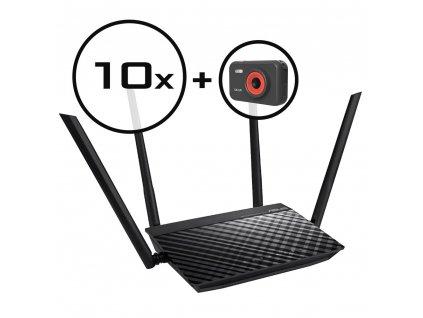 WiFi router Asus RT-AC750L 10pack + dárek zdarma