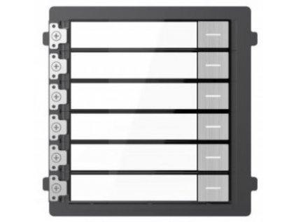 Modul Hikvision DS-KD-KK/S 6 tlačidiel pre IP interkom, nerez