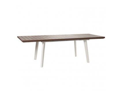 Záhradný stôl Keter Harmony rozkladací biely / cappuccino