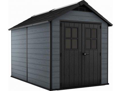 Záhradný domček Keter NEWTON 7511 tmavo šedý