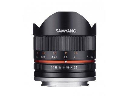 Objektív Samyang 8mm F2.8 II Canon M (Black) rozbaleno