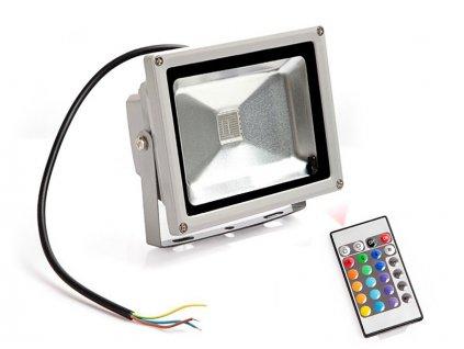 RGB LED Reflektor 20W + diaľkové