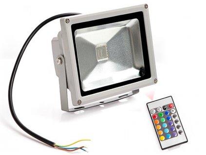 RGB LED Reflektor 50W + diaľkové