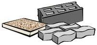 na cihlu, beton, pískovec