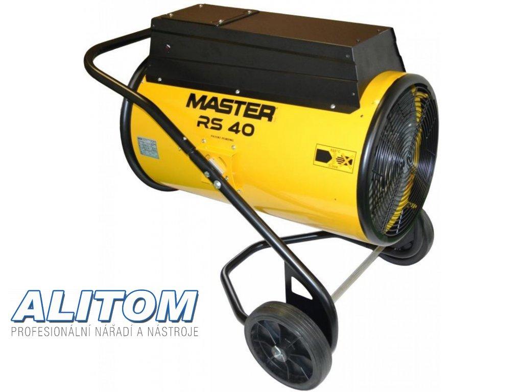 Elektrické topidlo MASTER s ventilátorem RS 40