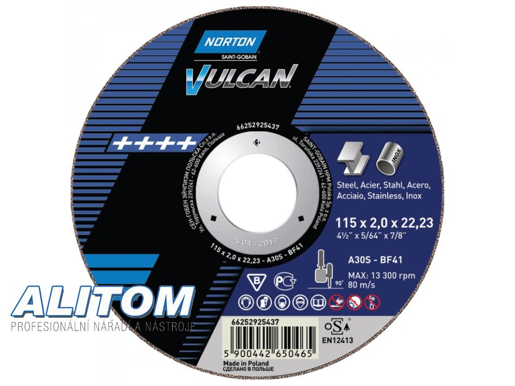 TW Ultra Thin Cut Off Angle Grinder Metal NOR VULCAN 61046(2)