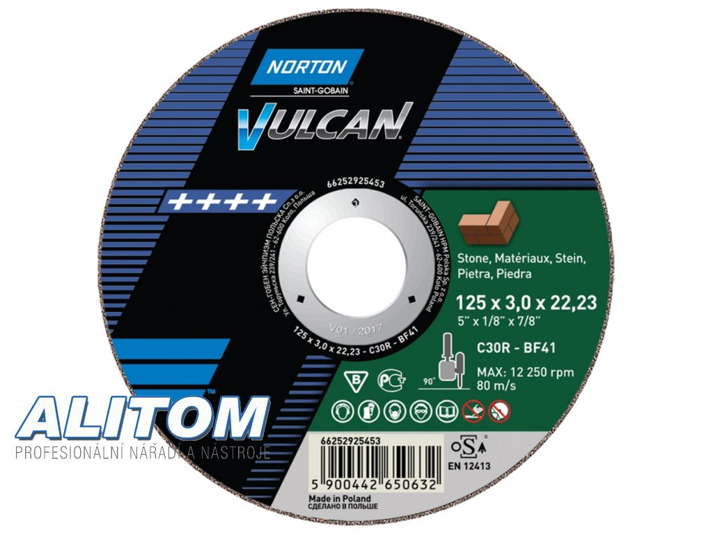 TW Cut Off Angle Grinder Stone NOR VULCAN 61048