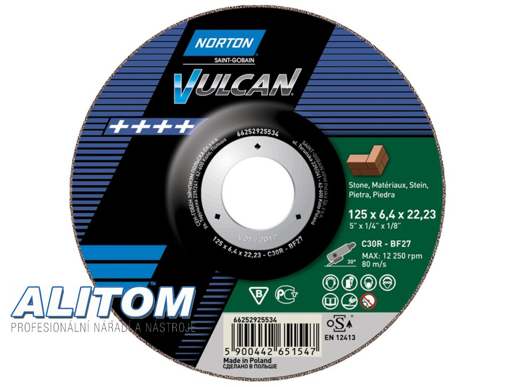 TW Grinding Angle Grinder Stone NOR VULCAN 61053