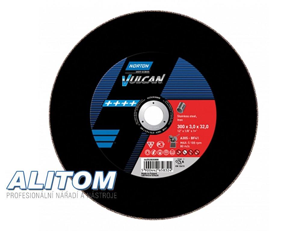 Řezné kotouče 300 x 3,0 x 32,00 Norton Vulcan A 30 S