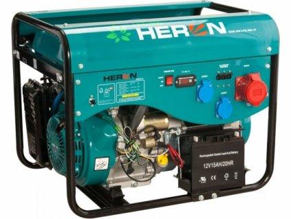 Elektrocentrála třífázová benzínová a plynová HERON LPGG 43 - 3F 13HP/5,3kW