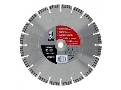 Diamantový kotouč ATLAS TURBO LASER 300x3,8x20