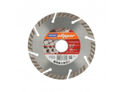 70184608579 Norton Clipper Blades STANDARD BETON CONCRETE TURBO 125mm 160560