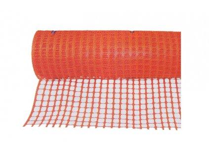 Plastový výstražný plot oranžový