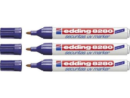 UV popisovač, Průmyslový popisovač edding 8280 Ultrafialový 100ks