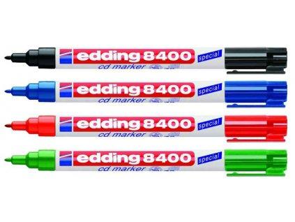 Permanentní popisovač Edding 8400 CD/DVD/BD 10 ks