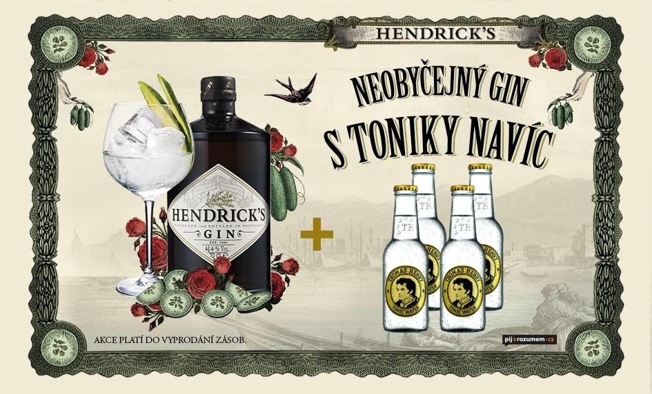 Hendrick's gin + 4x Thomas Henry Rozvoz alkoholu Praha