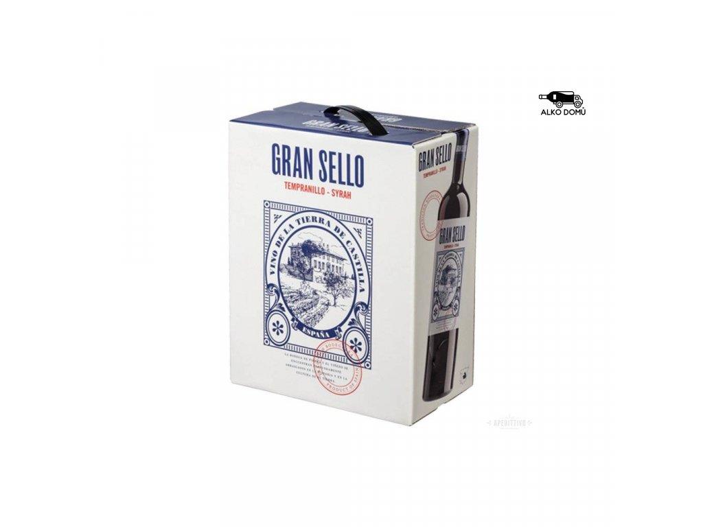 gran sello tempranillo syrah bag in box. rozvoz alkoholu praha