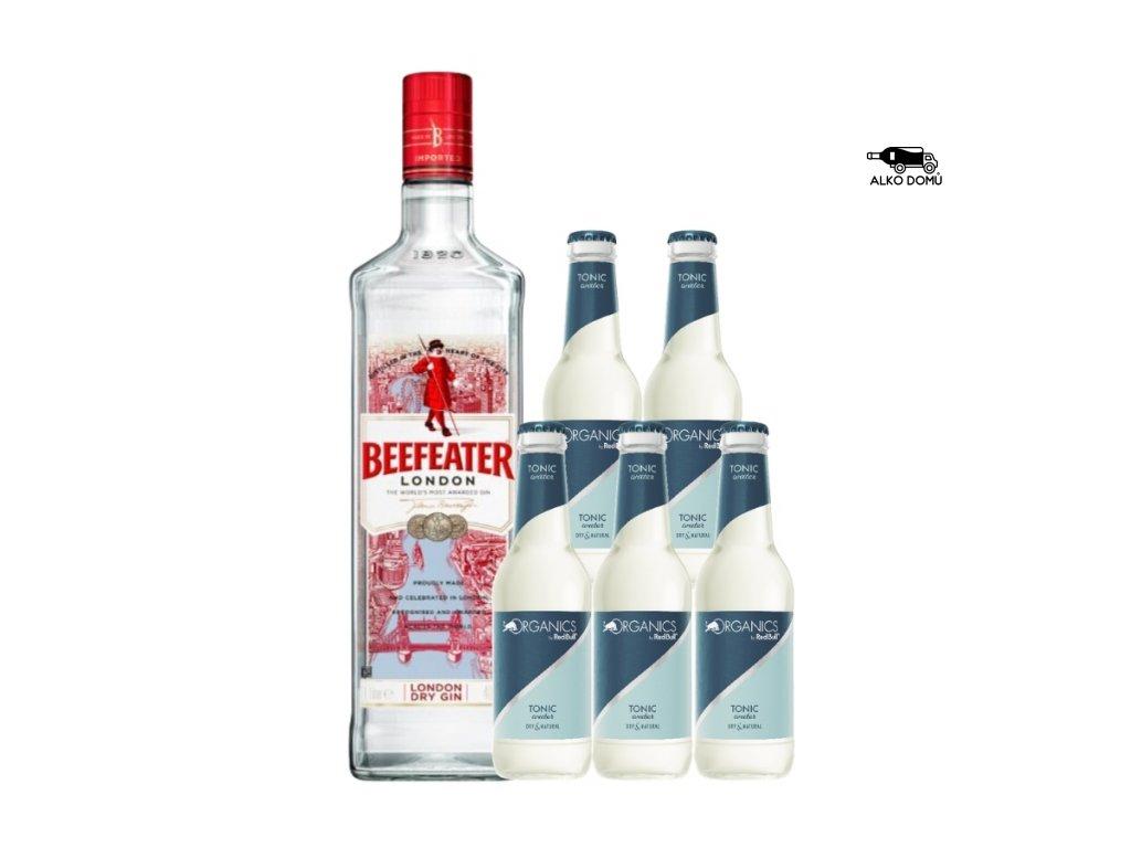 Beefeater Gin + 5x Organics Tonic Rozvoz alkoholu Praha