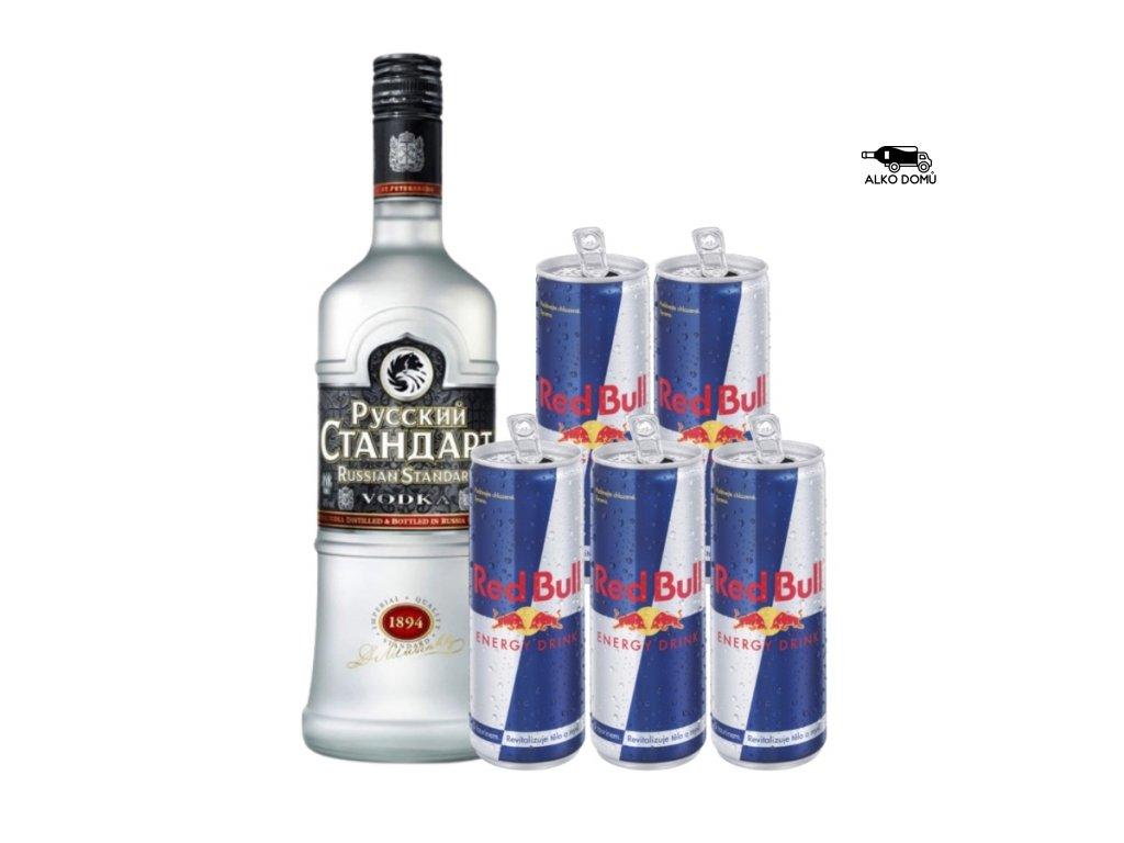 RUSSIAN STANDARD VODKA + 5x RED BULL Rozvoz alkoholu Praha