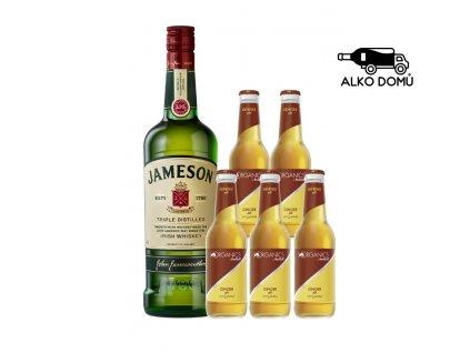 JAMESON WHISKEY + 5x ORGANICS GINGER ALE Rozvoz alkoholu Praha