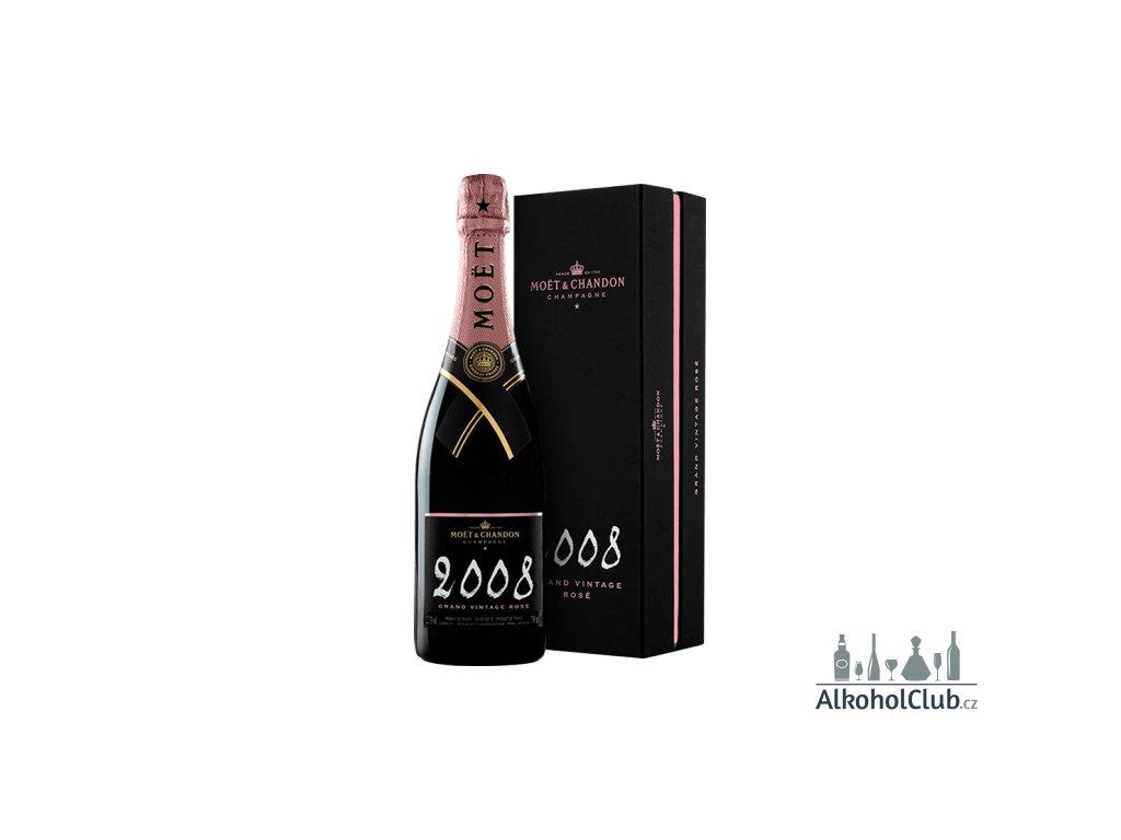 grand vintage rose 2008 in gift box champagne moet et chandon