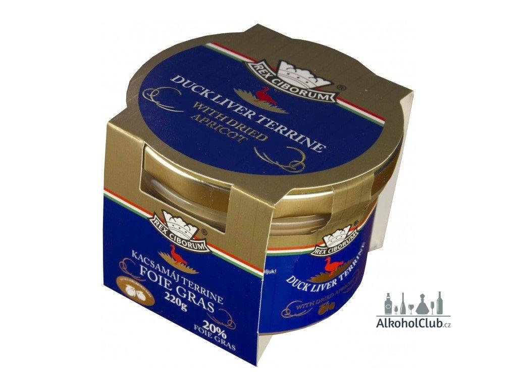 Kachní terrina s 20% Foie Gras a sušenými meruňkami RC