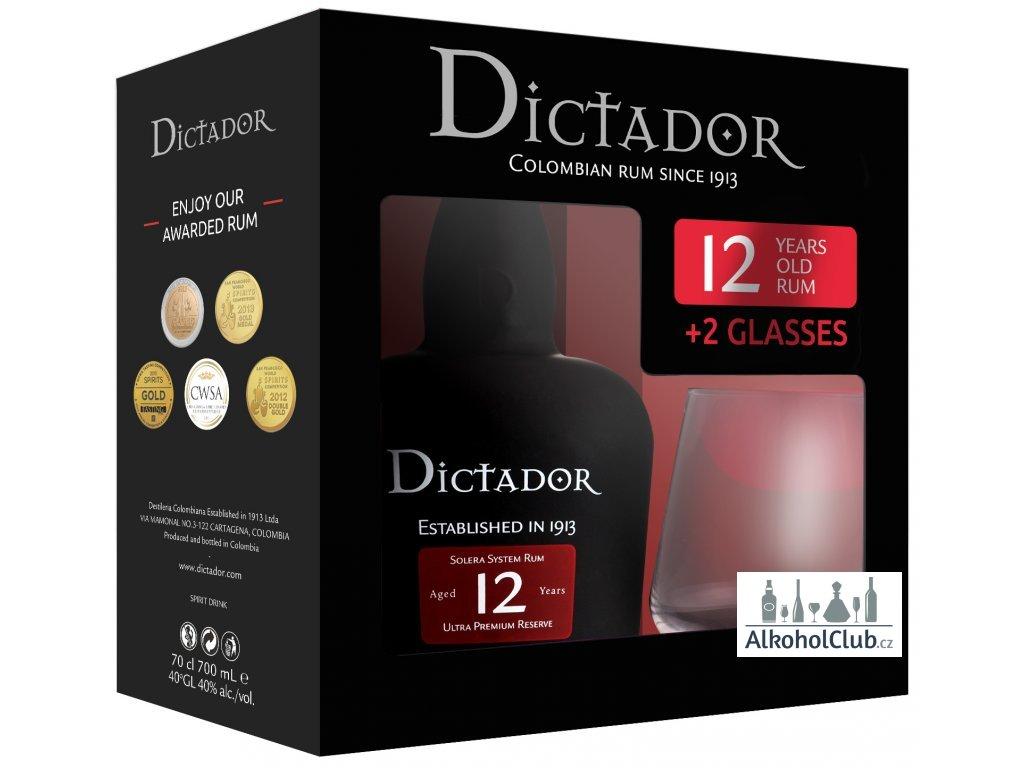 Dictador rum + sklo