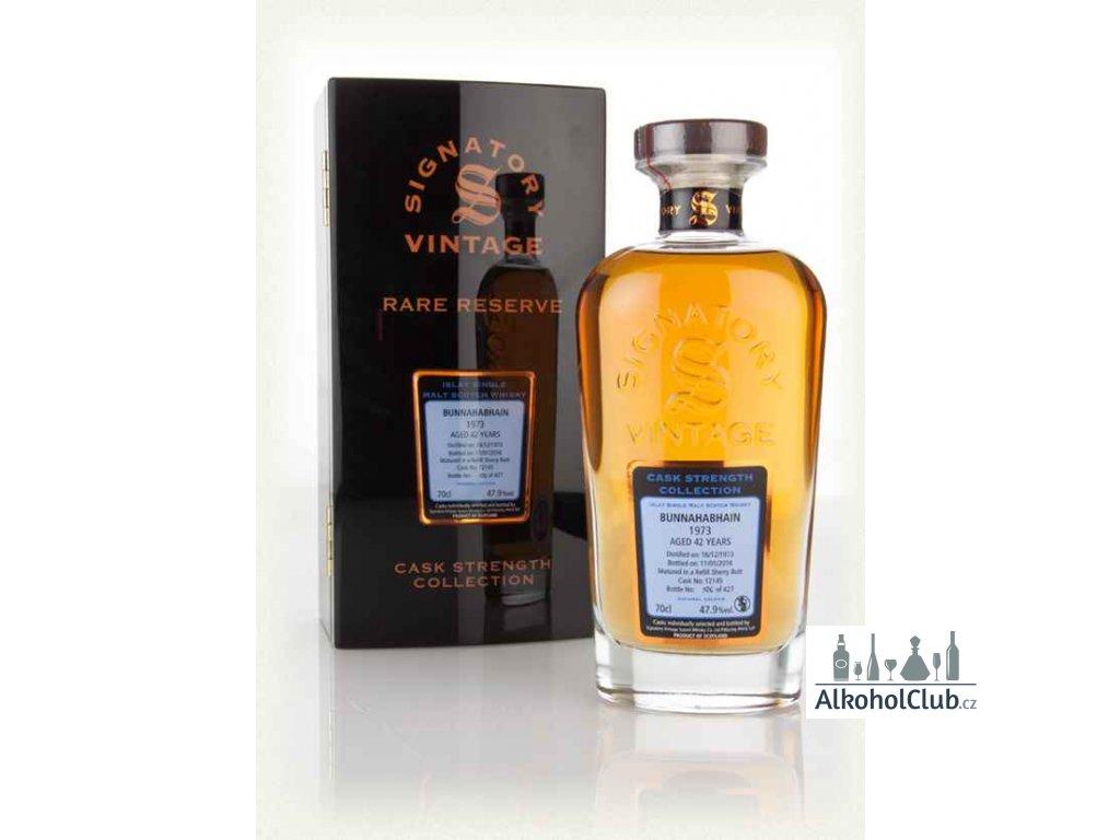 bunnahabhain 42 year old 1973 cask 12145 cask strength collection rare reserve signatory whisky