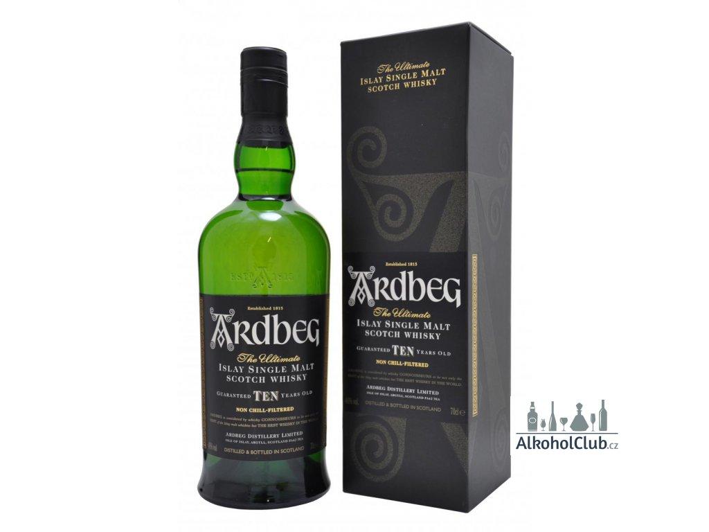 Ardbeg 10 slavná whisky