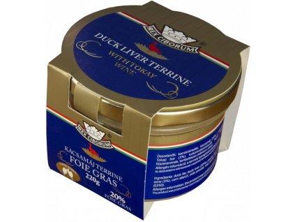 Kachní terrina s 20% Foie Gras s Tokajským vínem