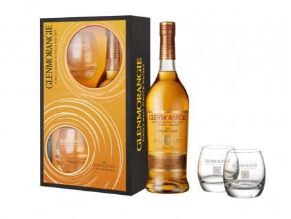 456 glenmorangie original 10yo 40 70cl. 2 glasses
