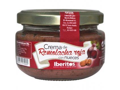 krém z červené řepy s oříšky Iberitos