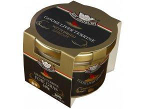 Husí terrina s 20% Foie Gras a sušenými meruňkami RC