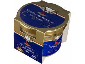 Kachní terrina s 50% Foie Gras s Tokajským vínem RC