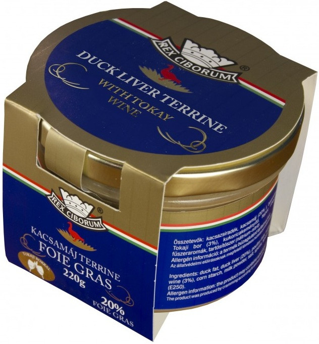 Kachní terrina s 20% Foie Gras s Tokajským vínem RC 220g