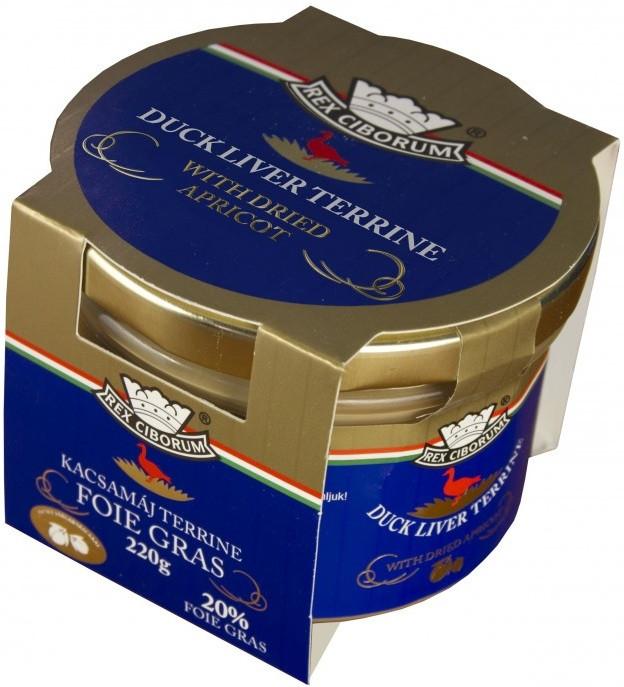 Kachní terrina s 20% Foie Gras a sušenými meruňkami RC 220g