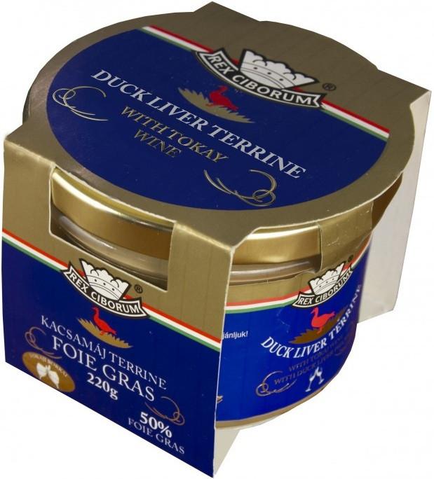 Kachní terrina s 50% Foie Gras s Tokajským vínem RC 220g