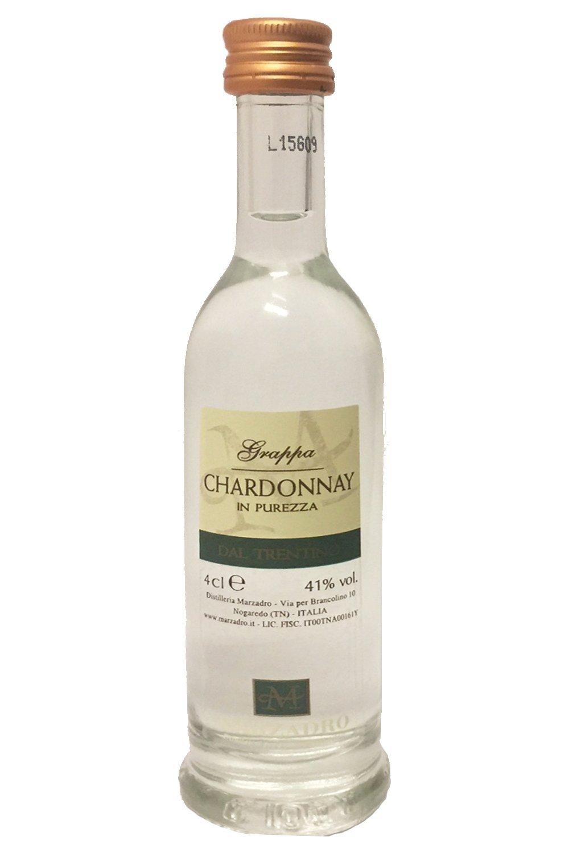 Grappa Marzadro Chardonnay in Purezza 41% 0,04l