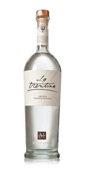 Grappa Marzadro La Trentina - Tradizionale Grappa giovane 41% 0,7l