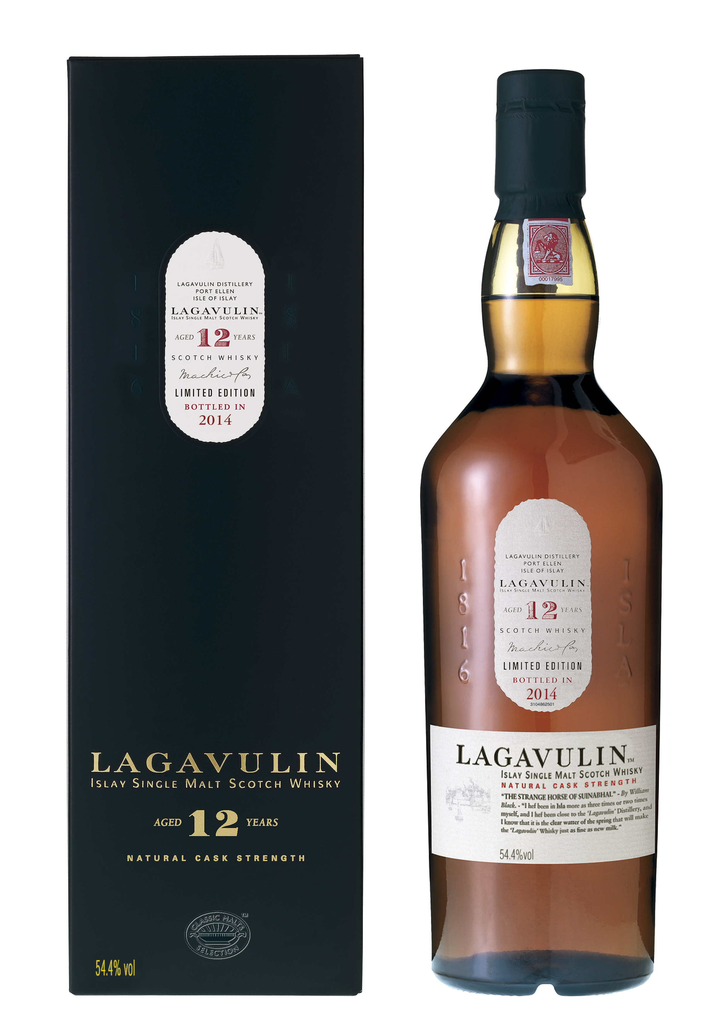 Lagavulin 12Y 54,4% 0.7l Cask Strength Limited Edition bottled in 2014