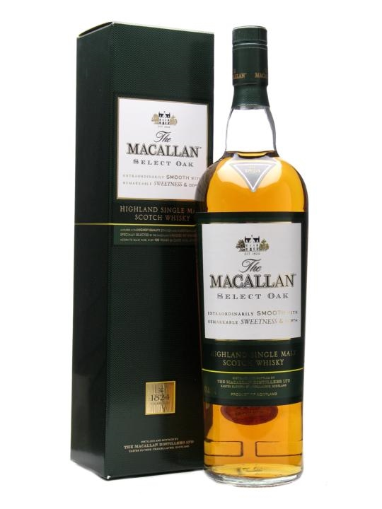 Macallan Select Oak 40% 1l Záznam byl v pořádku uložen.