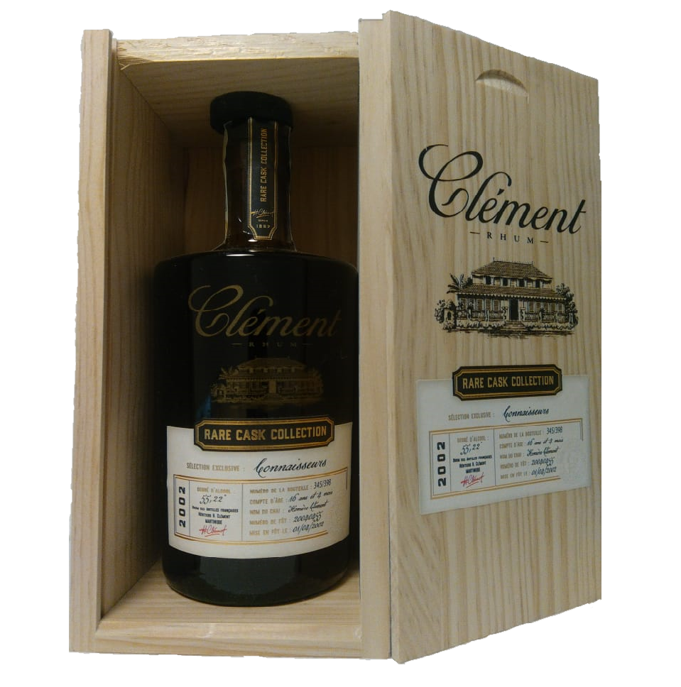 Clément 16y Rare Cask Collection Connaisseurs 2002 55,2% 0,5l omezený počet lahví 398 kusů