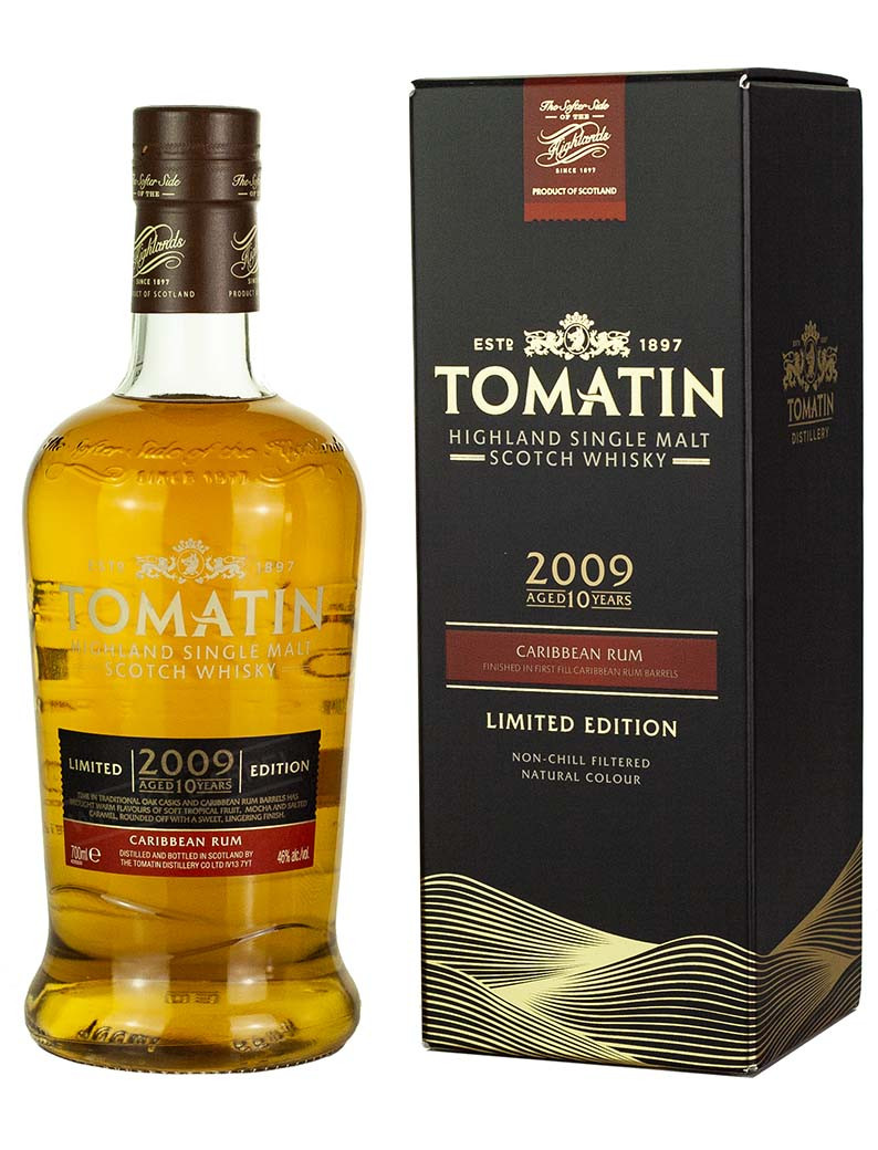 Tomatin 2009 10Y CARIBBEAN RUM CASK FINISH (LIMITED EDITION) 46% 0,7l
