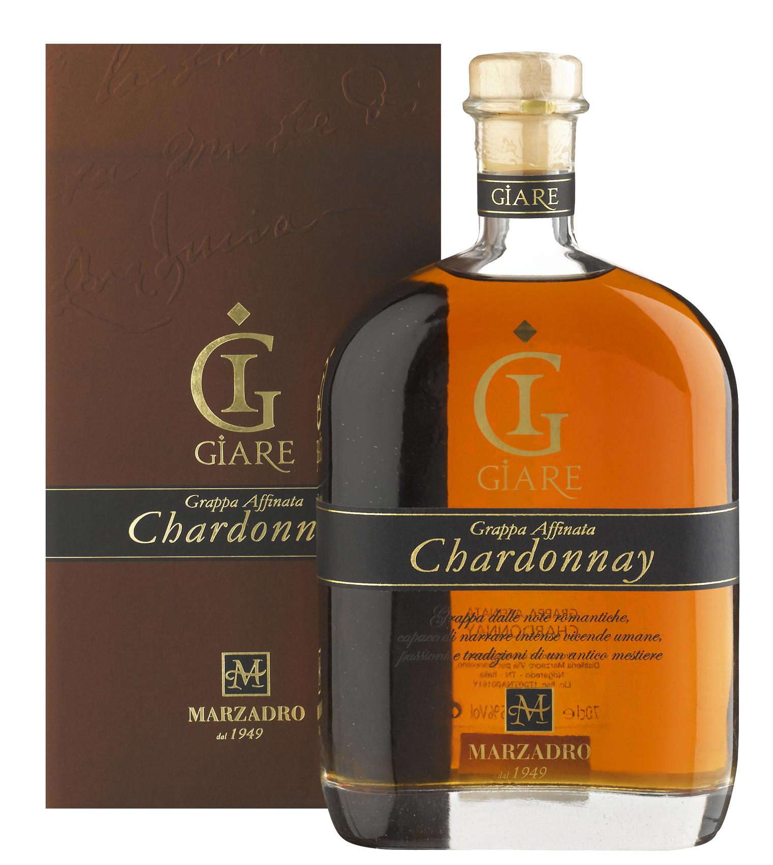 Grappa Marzadro Le Giare Chardonnay 45%0,7l