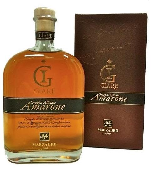 Grappa MARZADRO Le Giare Amarone 41% 0,7l