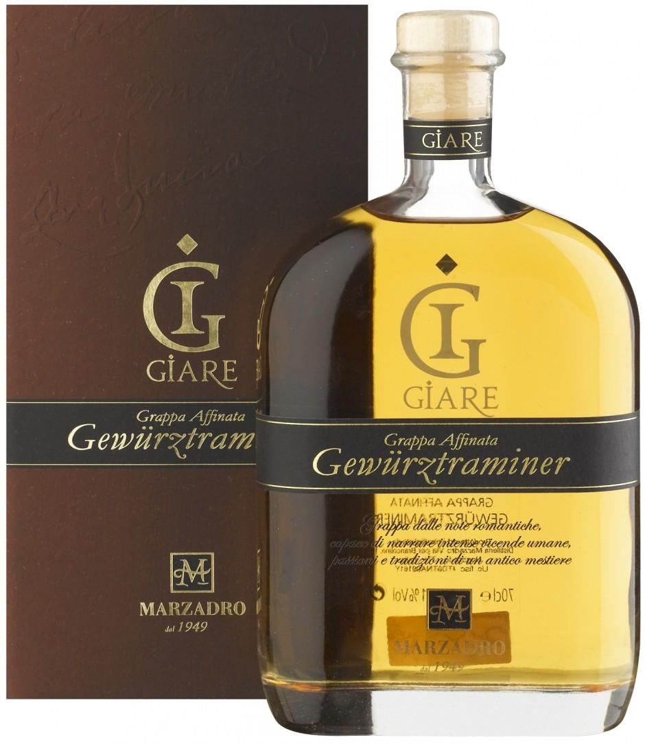 Grappa MARZADRO Le Giare Gewuerztraminer 41% 0,7l