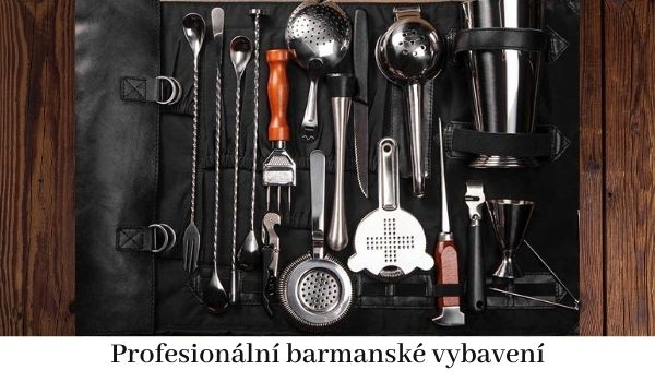 Profesionální barmanské vybavení.