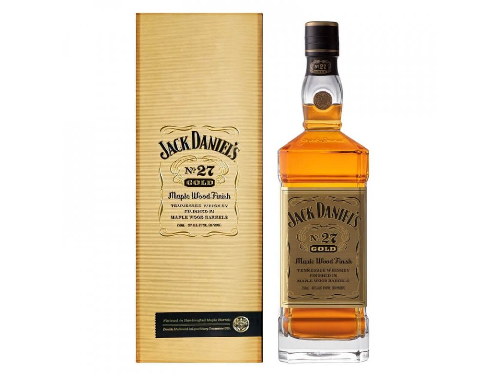 jack daniels no 27 gold maple wood finish tennessee whiskey 1