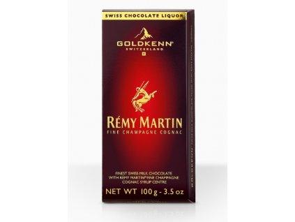 Goldkenn Mléčná čokoláda plněná koňakem Rémy Martin, 100g
